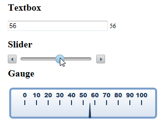 Textbox, Slider, and Gauge
