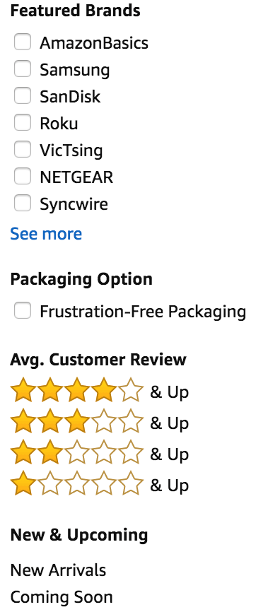 Example of an Amazon Filter